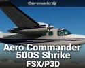 Aero Commander 500S Shrike Commander HD Series for FSX/P3D