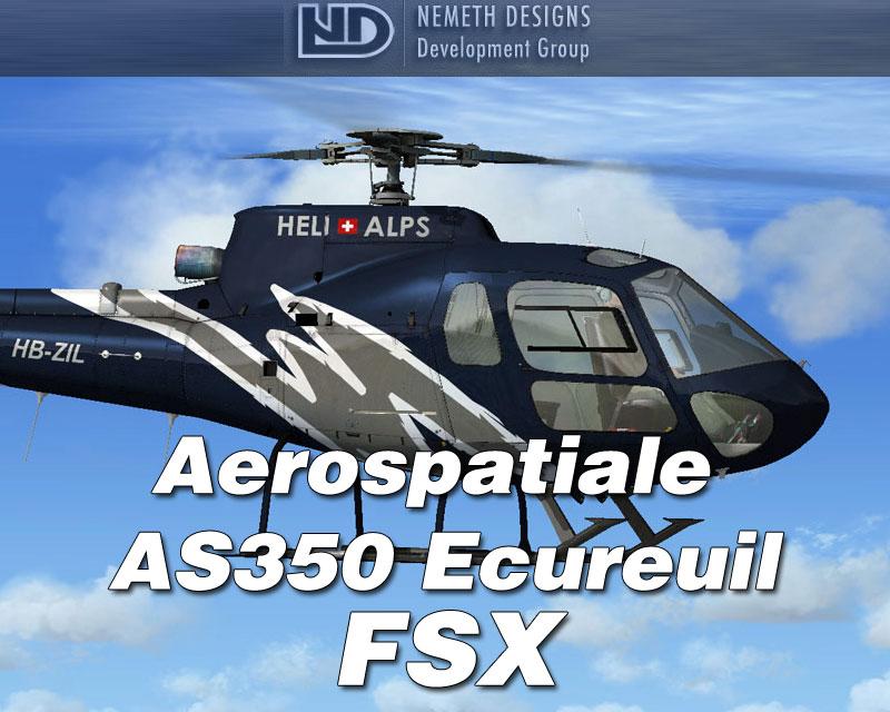 aerospatiale as350 ecureuil for fsx by nemeth designs rh simshack net AS350 Version EMS Eurocopter AS350