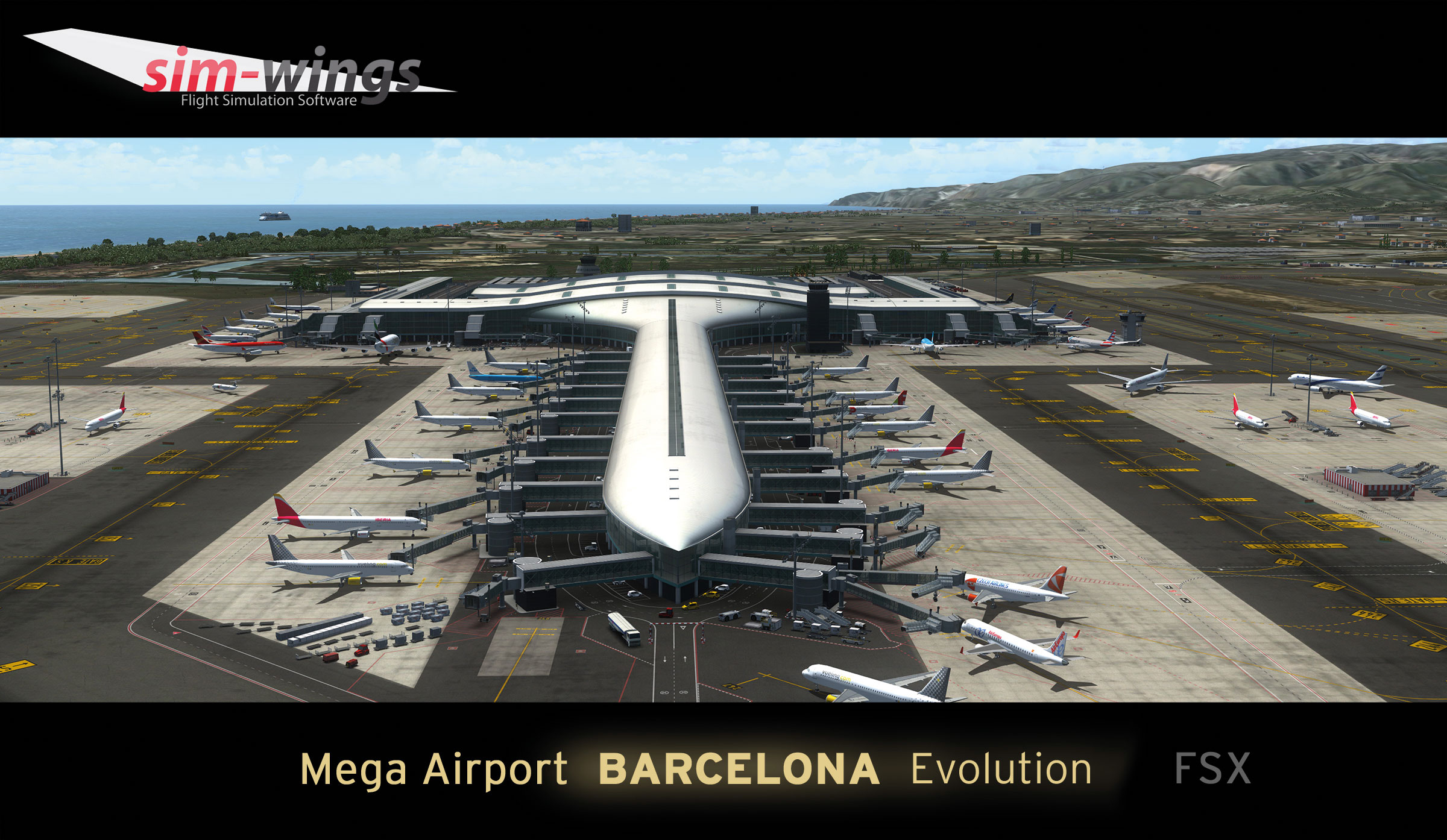 Mega Airport Barcelona Evolution Scenery for FSX