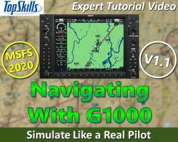 Navigating With the G1000 Glass Panel in MSFS (2020) Tutorial Video