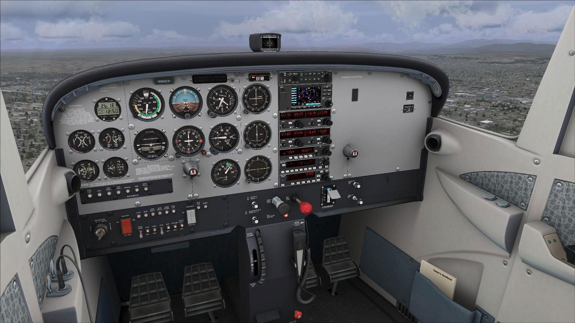 Cessna 172 trainer accu-sim for fsx/p3d by a2a simulations.