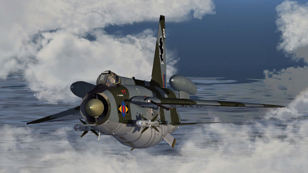 english electric lightning f6 for fsx p3d