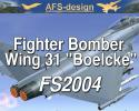 "AFS Fighter Bomber Wing 31 ""Boelcke"" for FS2004"