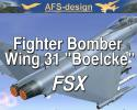 "AFS Fighter Bomber Wing 31 ""Boelcke"" for FSX"