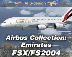 Airbus Collection with Emirates Repaints