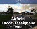 Airfield Lucca-Tassignano (LIQL) Scenery for MSFS