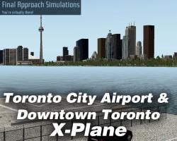Toronto City Airport & Downtown Toronto Scenery for X-Plane 10