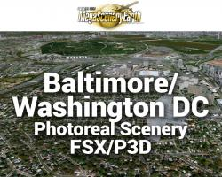 Baltimore/Washington DC Photoreal Scenery Ultra-Res Cities