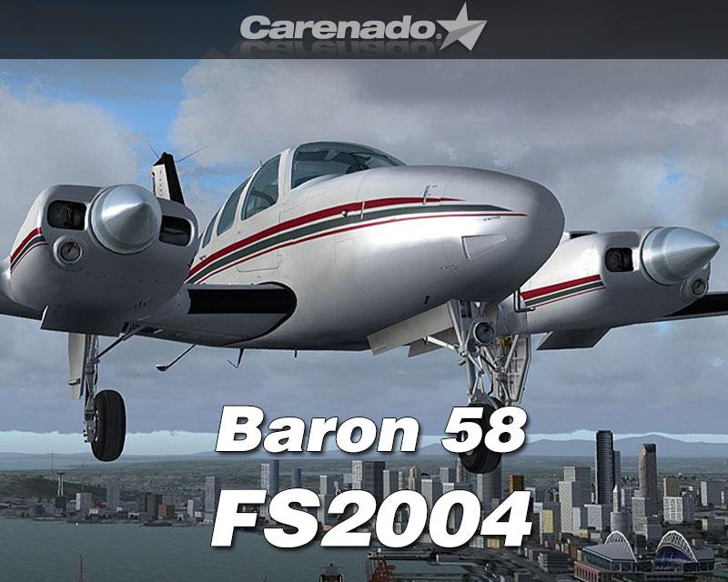 Beechcraft Baron 58 For Fs2004 By Carenado