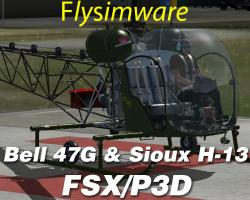 Bell 47G & Sioux H-13 for FSX/P3D
