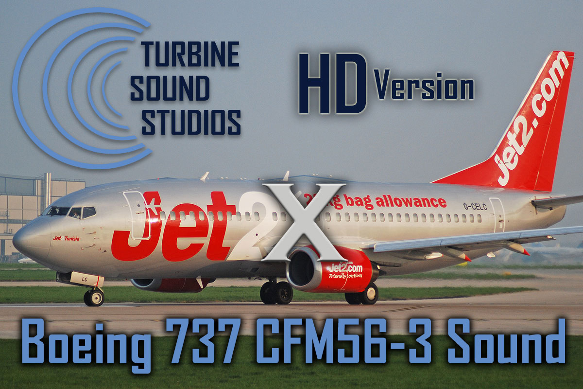 Boeing 737 Classic CFM56-3B HD Sound Pack for FSX/P3D