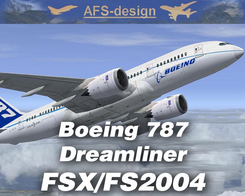Boeing 787 Dreamliner for FSX/FS2004 by AFS-Design