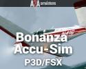 Beechcraft Bonanza Accu-Sim for P3D/FSX