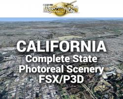 MegaSceneryEarth California Complete State Photoreal Scenery for FSX/P3D