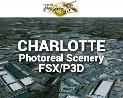 Charlotte Photoreal Scenery Ultra-Res Cities for FSX/P3D