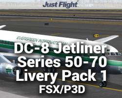 DC-8 Jetliner Series 50 to 70 Livery Pack 1