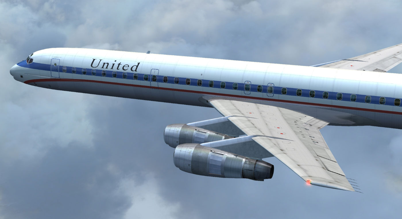 DC-8 Jetliner Series 50 to 70 Livery Pack 1 for FSX/P3D