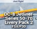 DC-8 Jetliner Series 50 to 70 Livery Pack 2 for FSX/P3D