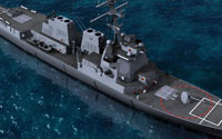 Deltasim's DDG-104 Destroyer boat for FSX