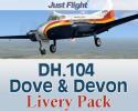 DH.104 Dove & Devon Livery Pack for FSX/P3D