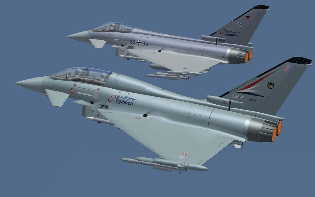 Eurofighter Typhoon Professional 3 for FSX/FS2004