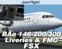 BAe 146-200/300 Jetliner Livery & FMC Expansion Pack for FSX