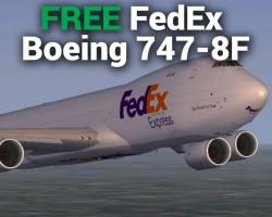 Free FedEx Express Boeing 747-8F for FSX