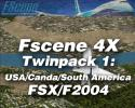 FScene 4X Twinpack #1: USA/Canada/South American for FSX & FS2004