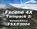FScene 4X Twinpack #2: Europe/Africa for FSX & FS2004
