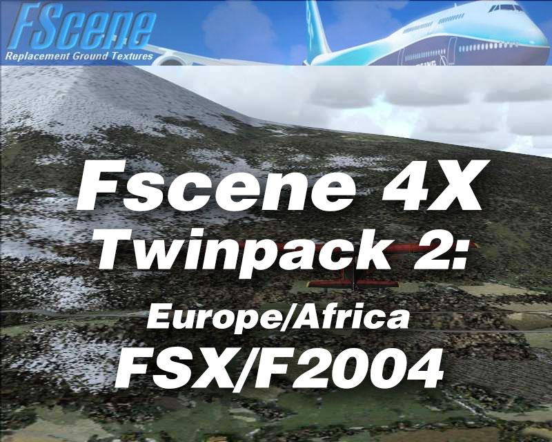 FScene 4X Twinpack #2: Europe/Africa for FSX & FS2004