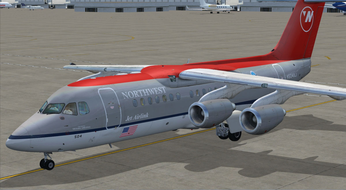 BAe 146-200/300 Jetliner Livery & FMC Expansion Pack for FSX by Just Flight