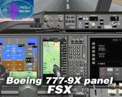 Boeing 777-9X Panel for FSX/P3D
