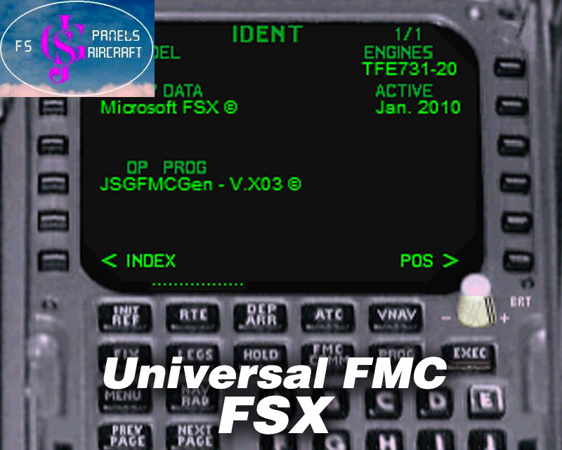 Universal Flight Management Computer FMC For FSX P3D