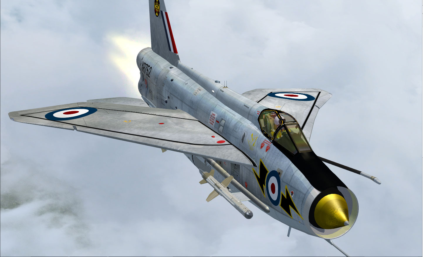 english electric lightning f 6 for fsx
