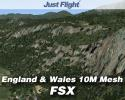 VFR Real Scenery: England & Wales 10M Mesh for FSX