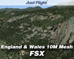 VFR Real Scenery: England & Wales 10M Mesh