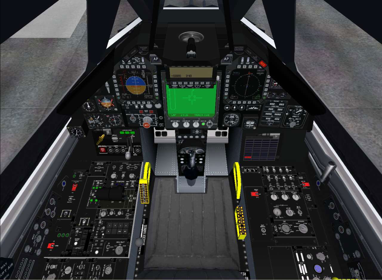 F 117 Stealth Fighter Cockpit F-117A Stealth Fighter...