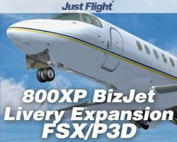 800XP BizJet Livery Expansion Pack for FSX/P3D