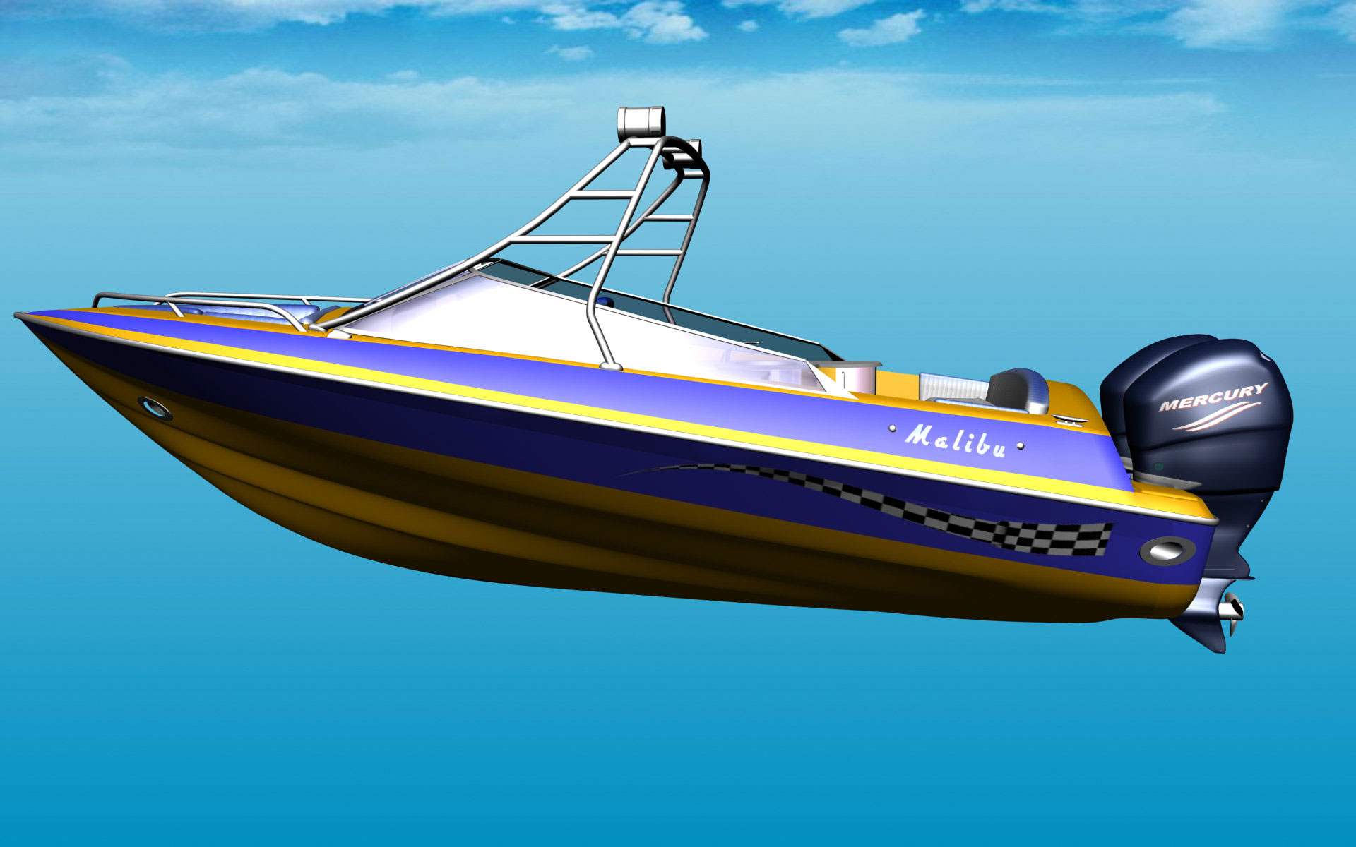 Malibu 32 Motor Boat for FSX - FSX Boats & Watercraft