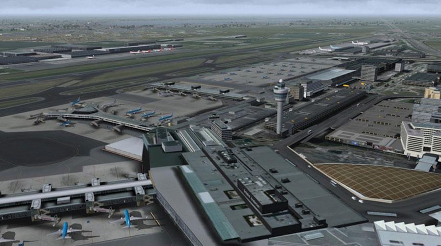 Mega Airport Amsterdam (Schiphol) X Scenery for FSX