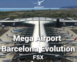 Mega Airport Barcelona Evolution Scenery