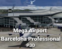 Mega Airport Barcelona Professional Scenery for P3D