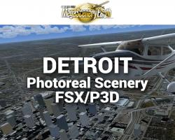 Detroit Photoreal Scenery Ultra-Res Cities for FSX/P3D