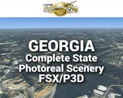 MegaSceneryEarth Georgia Complete State Photoreal Scenery for FSX/P3D