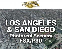 Los Angeles & San Diego Photoreal Scenery Ultra-Res Cities