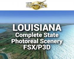 MegaSceneryEarth Louisiana Complete State Photoreal Scenery for FSX/P3D
