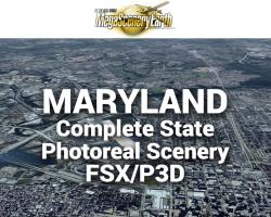 MegaSceneryEarth Maryland Complete State Photoreal Scenery