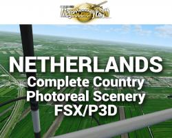 MegaSceneryEarth The Netherlands Complete Country Photoreal Scenery for FSX/P3D