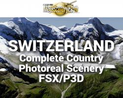 MegaSceneryEarth Switzerland Complete Country Photoreal Scenery for FSX/P3D