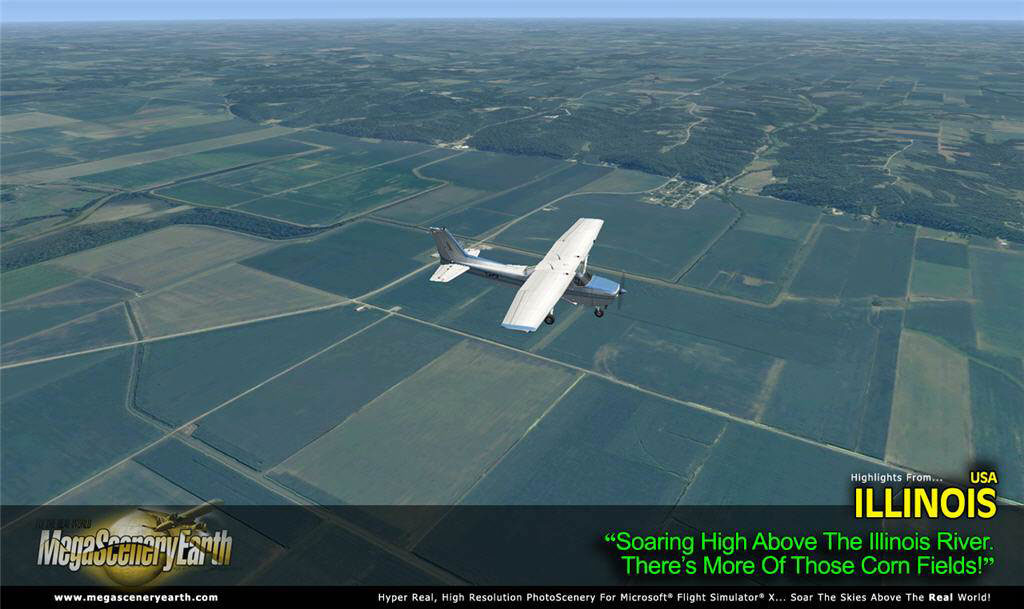 MegaSceneryEarth Illinois Complete State Photoreal Scenery for FSX/P3D